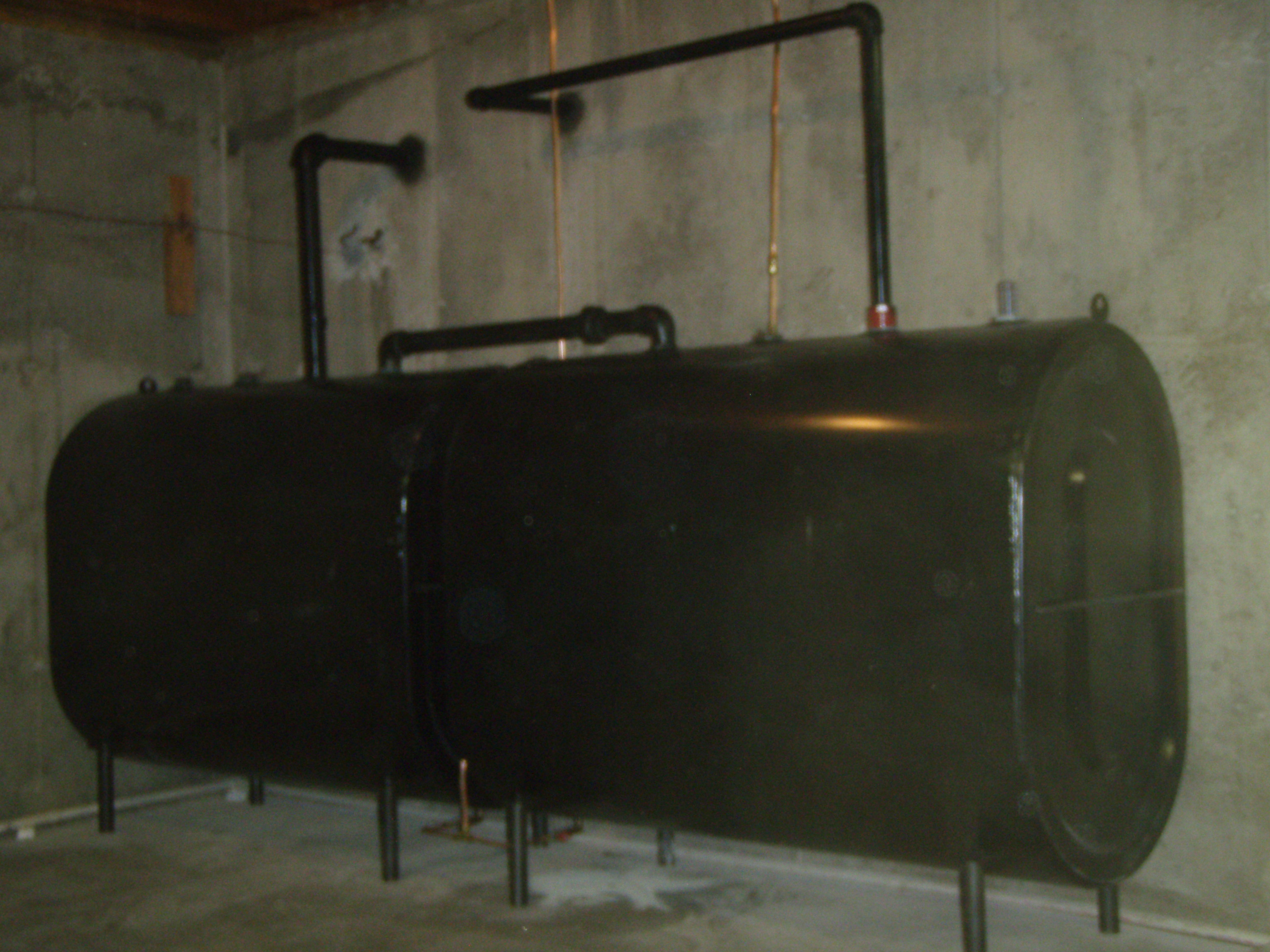 view our work indoor tank installation